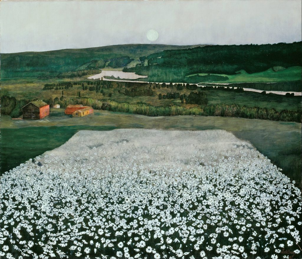 Harald Sohlberg - Flower Meadow in the North